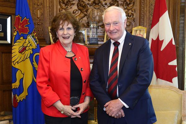 Lois Mitchell and David Johnston on May 20, 2015.