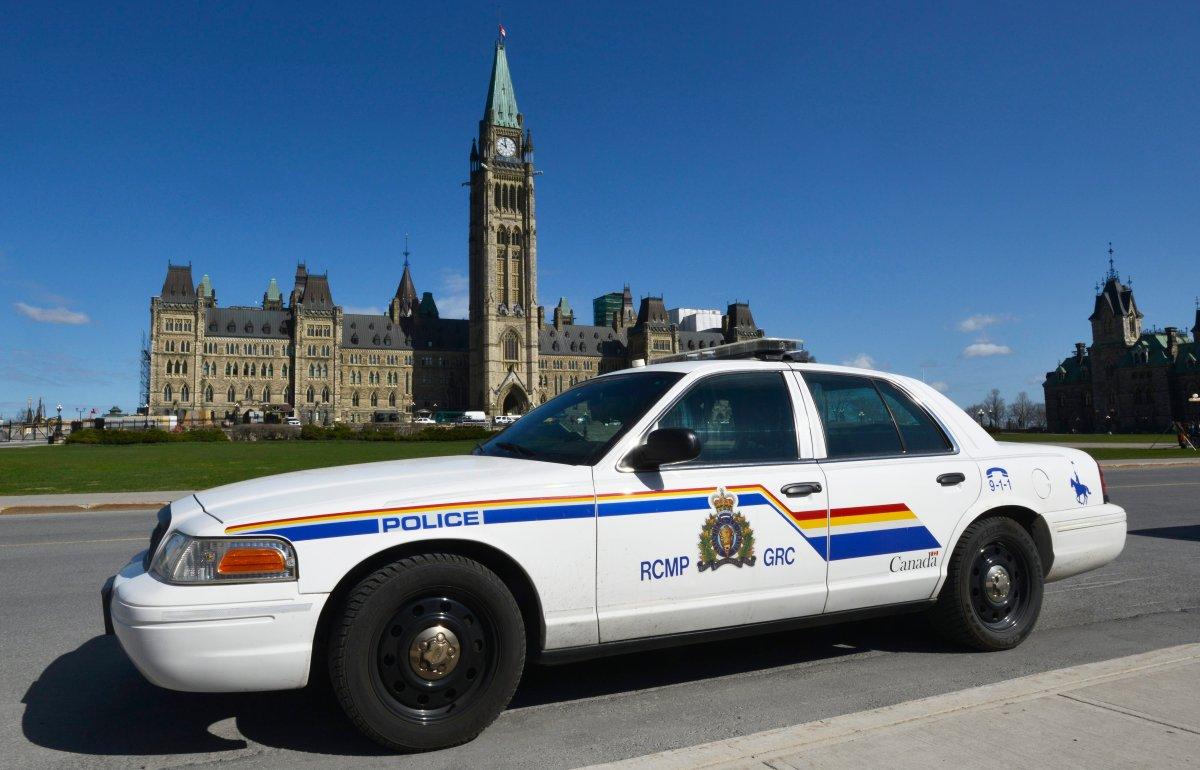 RCMP cruiser on Parliament Hill