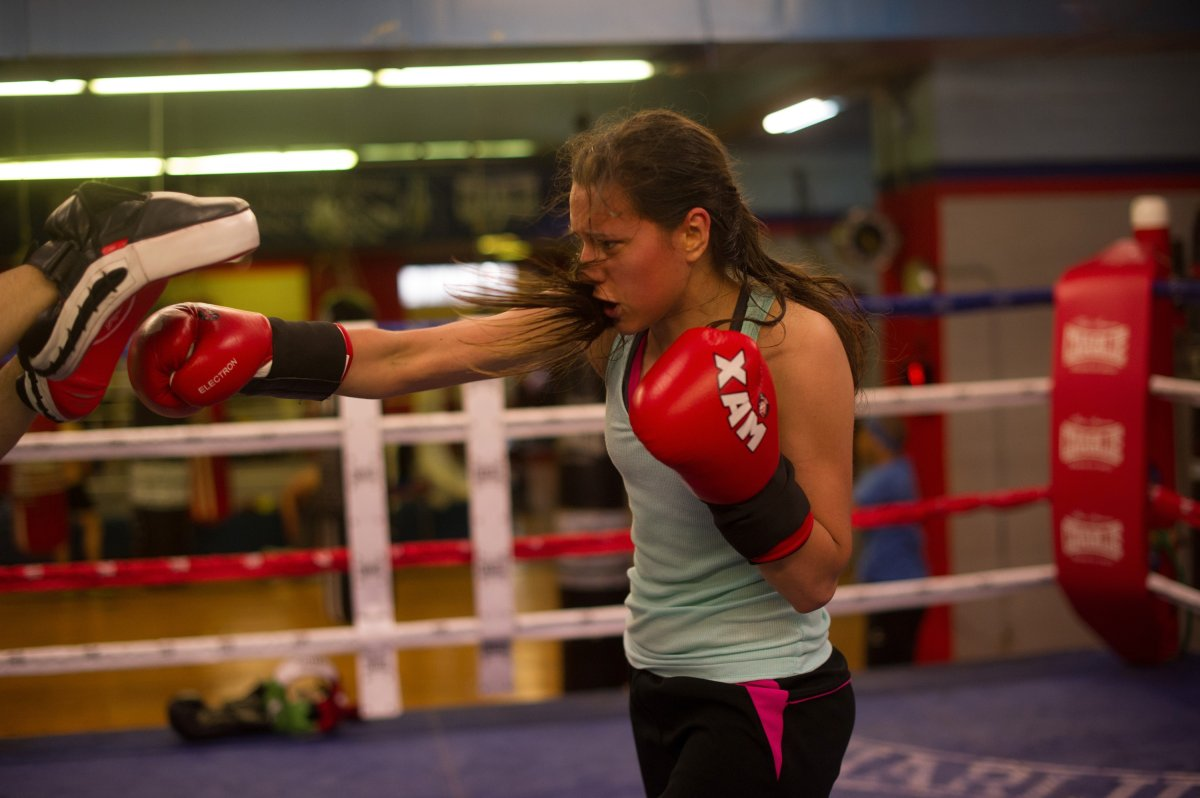 Women are increasingly taking up the traditional male sport of  boxing.