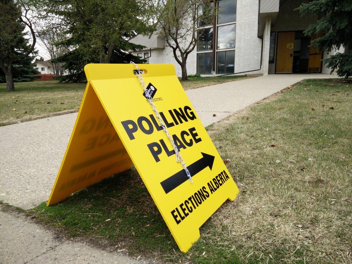 An Alberta provincial election polling station in southwest Edmonton. Thursday, April 30, 2015.