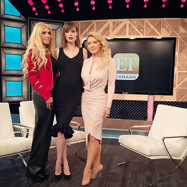 """On set with my girls @sylviamantella and @cherylhickeypeeps talking all things Canadian fashion on tonight's @ETCanada! #Tunein"" Coco Rocha -@cocorocha."