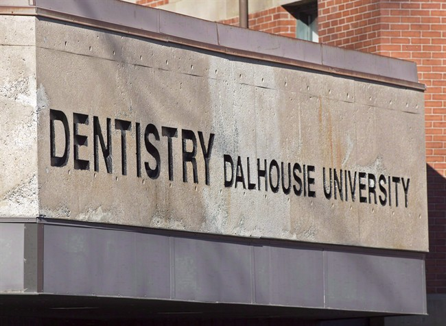 The Dalhousie University dentistry building is seen in Halifax on Jan. 6, 2015. A report into sexist online posts by dentistry students at Dalhousie University says a Facebook page at the centre of the scandal began as a bonding exercise, but turned offensive. THE CANADIAN PRESS/Andrew Vaughan.