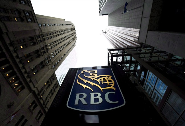 A Royal Bank of Canada sign is pictured in downtown Toronto on Dec. 2, 2011.