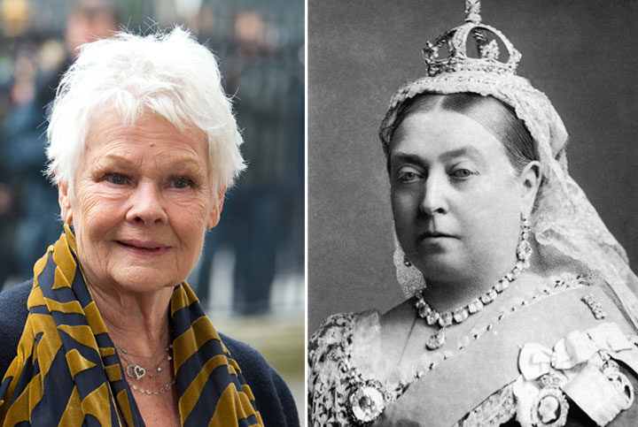 Judi Dench, left, is one of many stars who have portrayed Queen Victoria.
