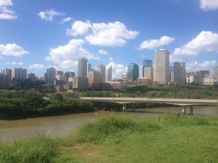 The Edmonton skyline.