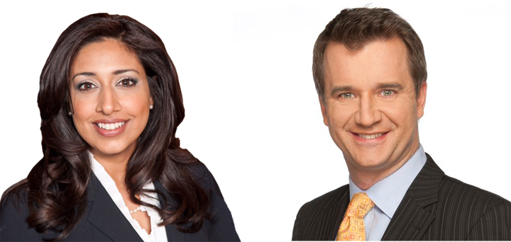 Farah Nasser and Alan Carter have been named the new hosts of Global News at 5:30 and 6