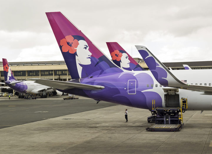 A Hawaiian Airlines plane is seen in this file photo.