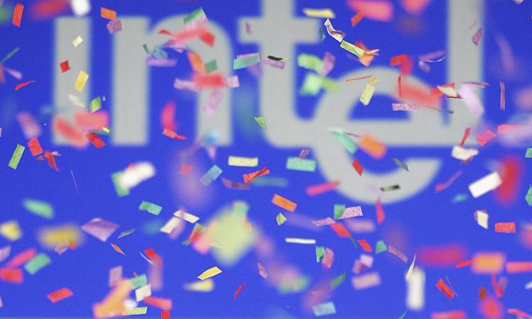 Confetti rains down at the Intel International Science and Engineering Fair (Intel ISEF).