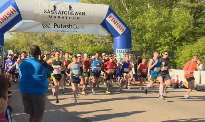 The Saskatchewan Marathon, one of the longest-running marathons in the country, was held Sunday in Saskatoon.