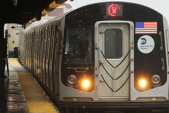A subway train pulls up to a station on Feb. 23, 2010, in New York City. Canadian Abdulrahman El-Bahnasawy has pleaded guilty to plotting an ISIS attack that was to target the subway in 2016.