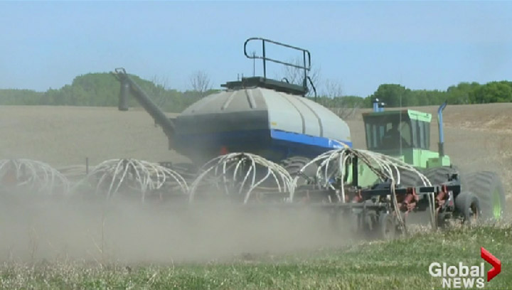 Seeding is almost complete and now Saskatchewan farmers are looking to the sky for some much needed raid.