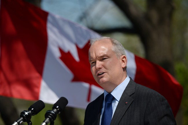 Veteran Affairs Minister Erin O'Toole makes an announcement at a press conference in Ottawa on Tuesday, May 12, 2015.