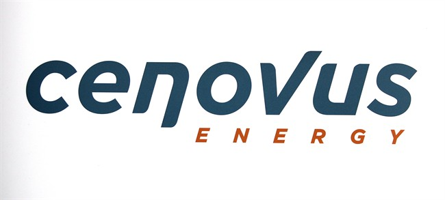 Cenovus Energy logo at the company's annual meeting in Calgary, Wednesday, April 25, 2012.