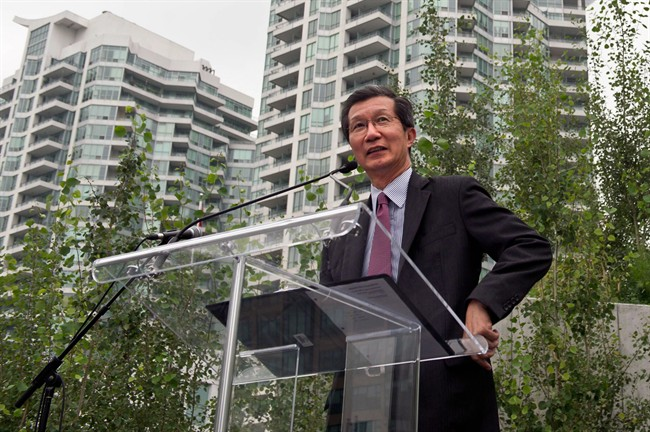 Michael Chan, above, in Toronto on August 28, 2013.