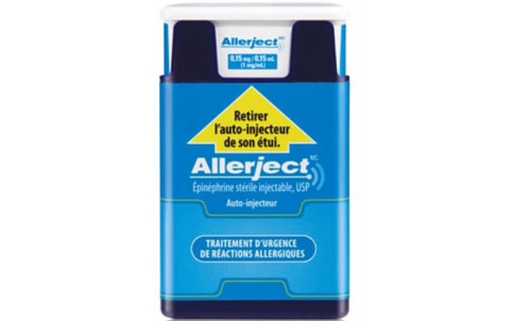 Health Canada is recalling lots 2857508 and 2857505 of Allerject 0.15 mg/0.15 ml auto-injector following the discovery of a defect with the needle.