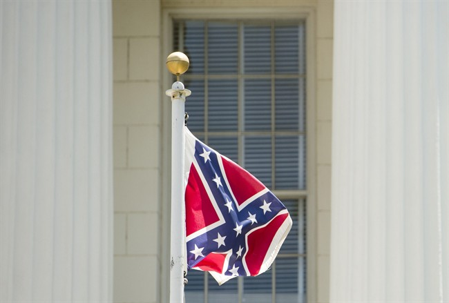 A Confederate flag flies on the grounds of the Alabama Capitol building in Montgomery, Ala., June 22, 2015.