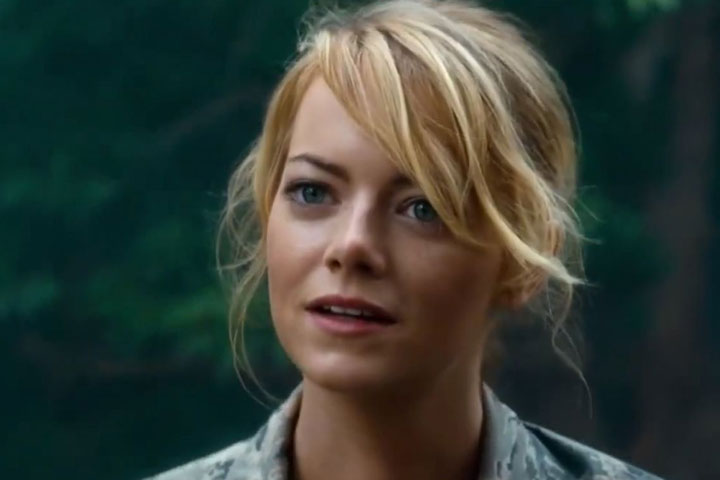 Emma Stone, pictured in a scene from 'Aloha.'.