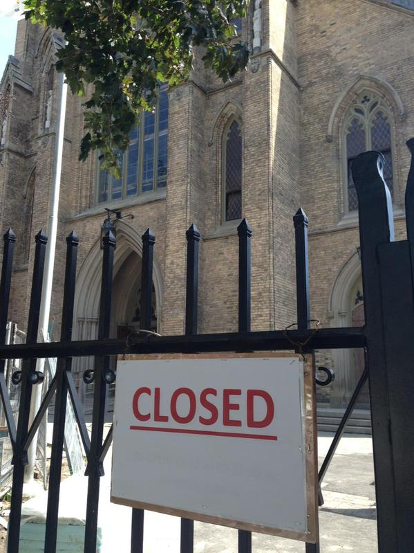 St. Michael's Cathedral is shutting its doors until September 2016 due to structural issues.