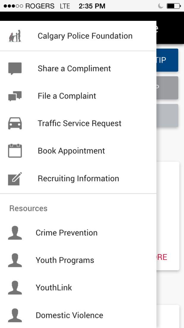 Calgary Police Service app