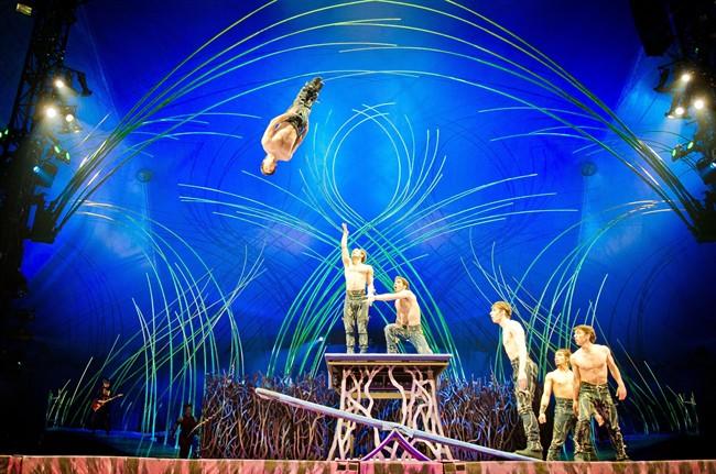 "Actors perform in Cirque du Soleil's ""Kurios - Cabinet of Curiosities"" in this undated handout photo."
