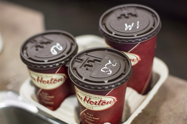 Tim Hortons said sales at established restaurants continue to climb in Canada.