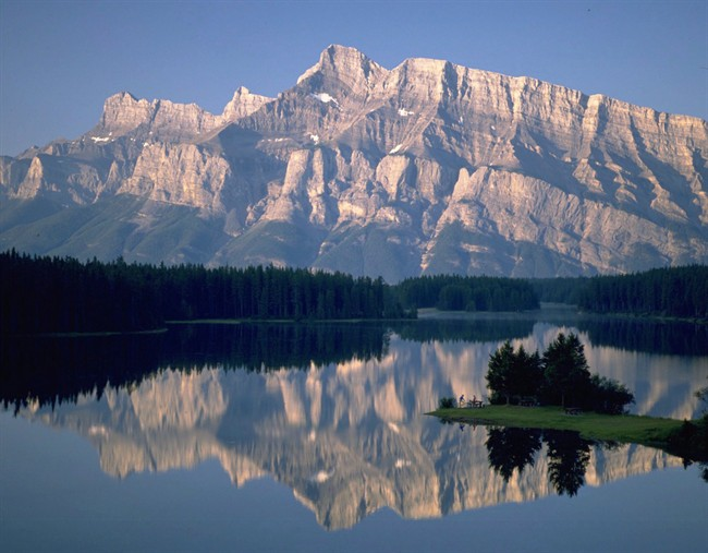 A view of Two Jack Lake in Banff National Park is shown in this undated handout photo.