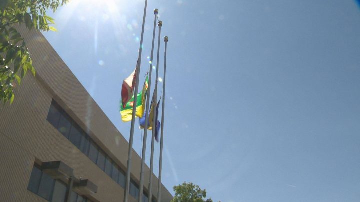 Flags were lowered to half-mast at Saskatchewan government buildings on April 28 to mark the National Day of Mourning for those killed, injured or sickened on the job.