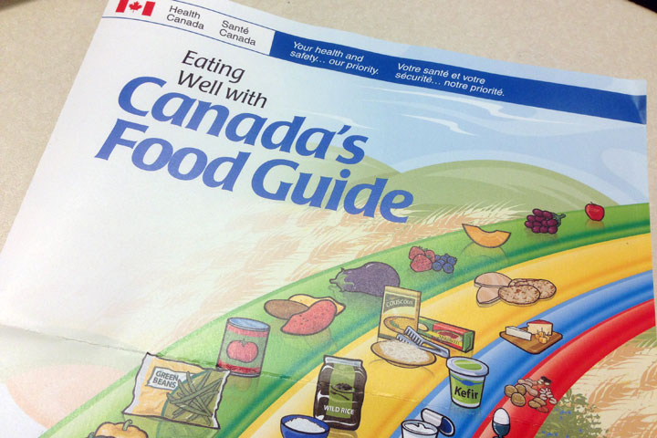 Canada's Food Guide – the iconic, colourful model to eating well.
