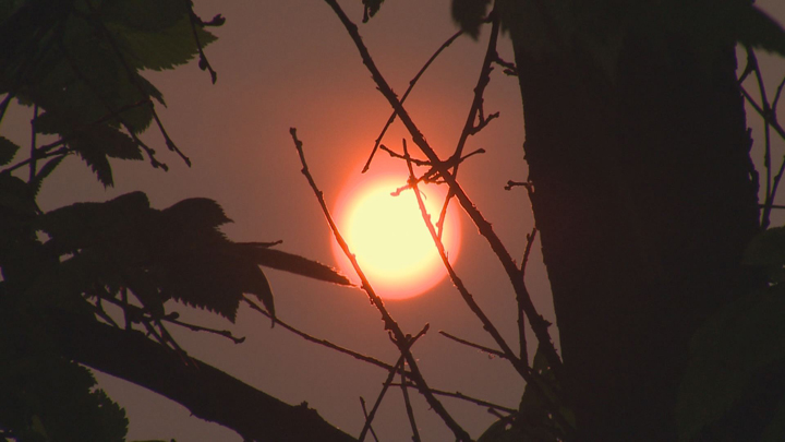 haze Winnipeg sun