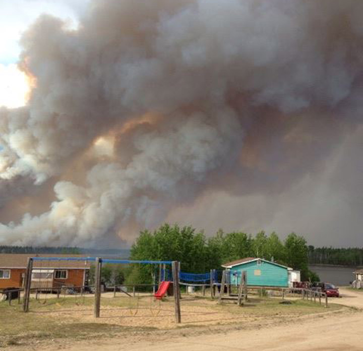 People have been evacuated in northern Saskatchewan due to smoke from multiple forest fires on the weekend.