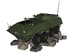 A rendering of the LAV monuments to honour Canada's service in Afghanistan.