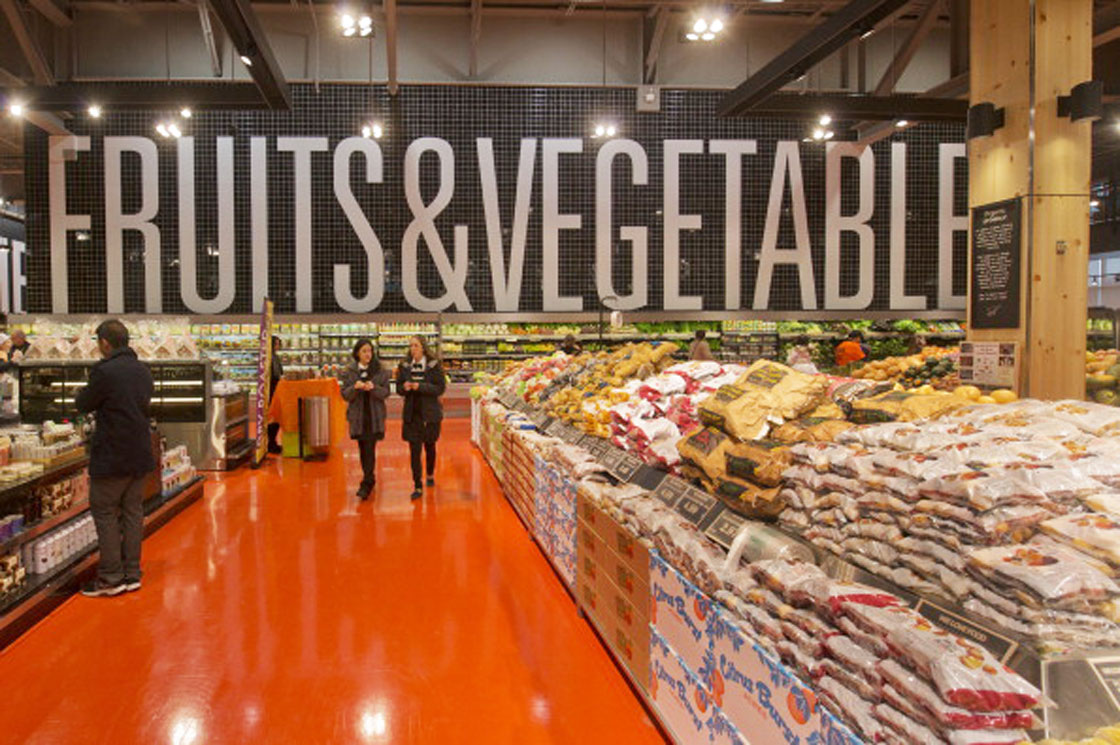 Canadian grocery stores, like the Loblaw location in Toronto above, are ramping up efforts to sell more fresh foods.