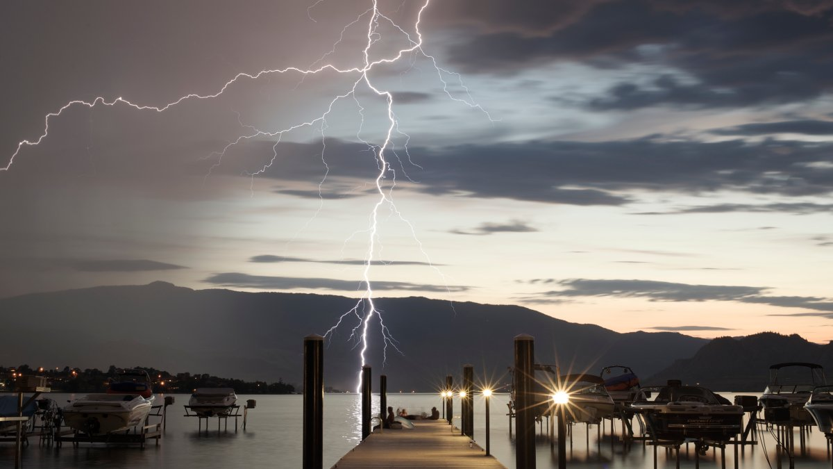A shot from Osoyoos of the southern Okanagan lightning storm that resulted in several fires.