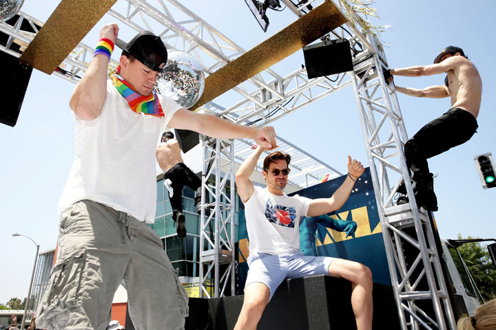 Channing Tatum, left, and Matt Bomer, pictured on June 14, 2015.