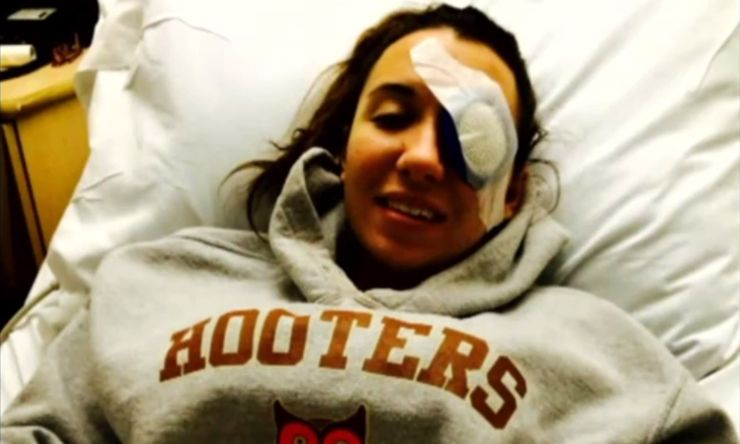 Brittany Williams was blind in one eye a day after doing a mud run.