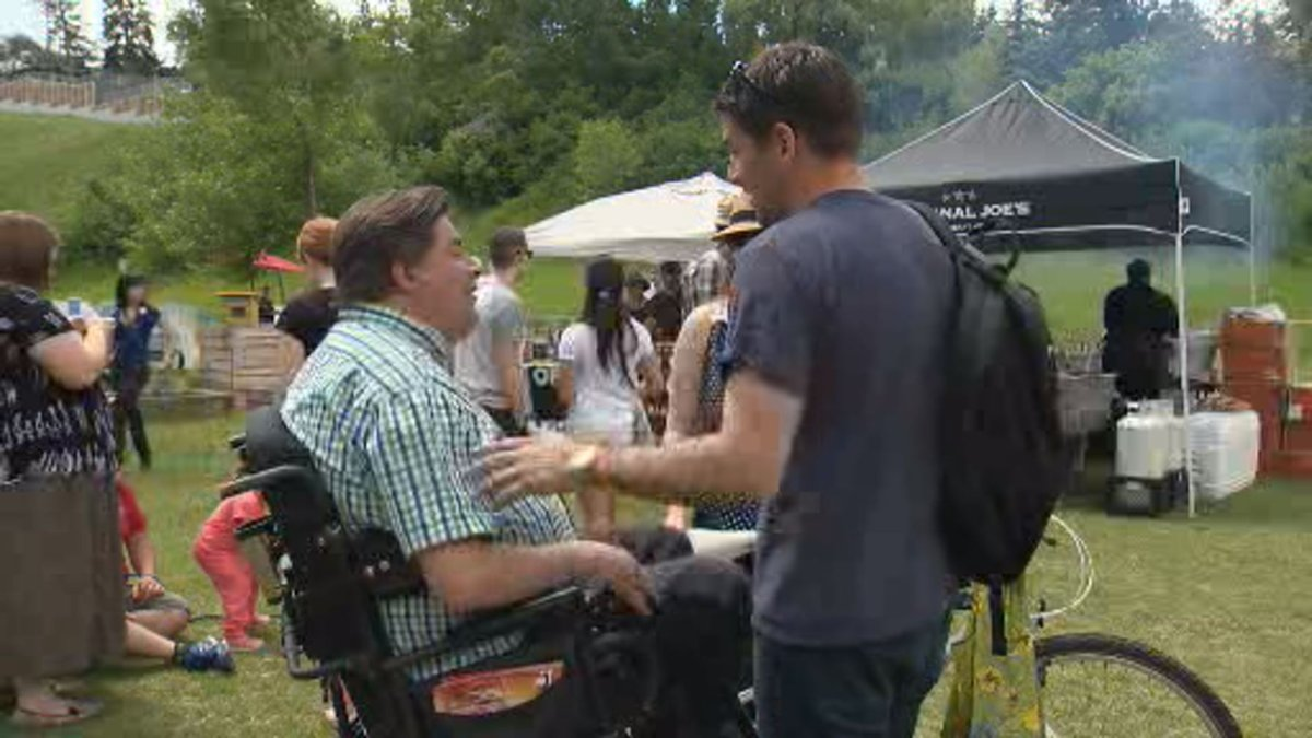Federal Liberal candidate Kent Hehr at Saturday's 'Neighbour Day' celebrations.