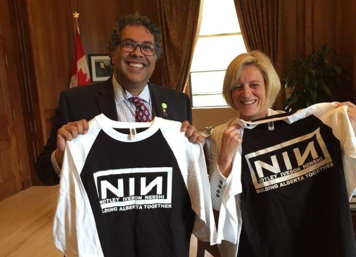 Nenshi Notley In Nine Inch Nails Logo Makes Headlines Earns Backlash Globalnews Ca
