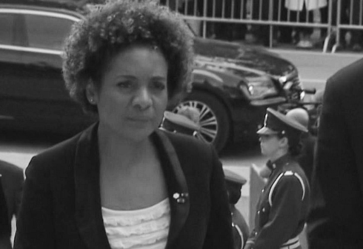 Canadian stateswoman Michaëlle Jean at the funeral of Jacques Parizeau on June 9, 2015.