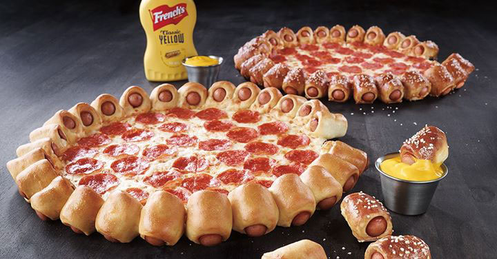 Pizza Hut's Hot Dog Bites Pizza will be available to U.S. customers starting June 18, 2015. Canadian customers got their taste of hot dog pizza way back in 2012.