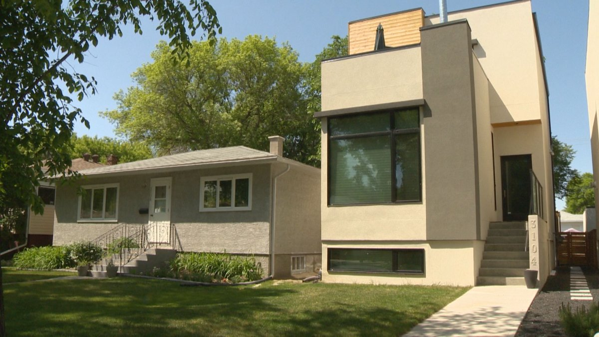 Modern designs like this one in Lakeview are popping up next to much older homes.