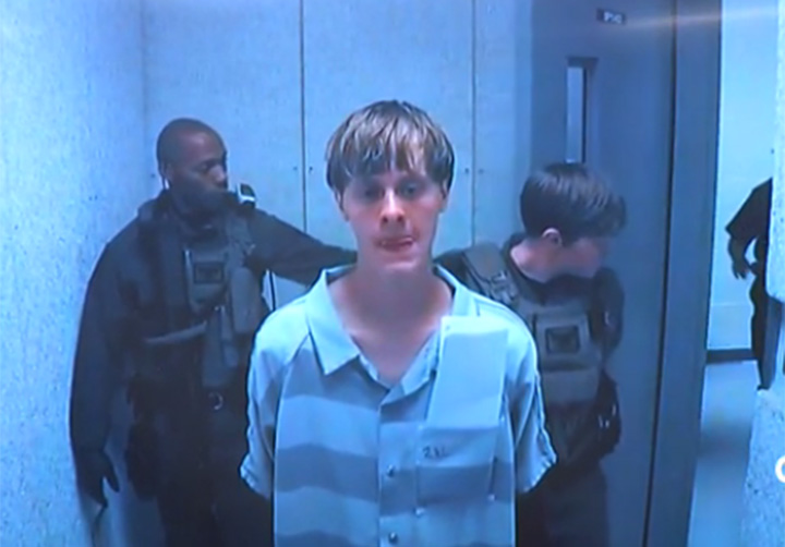 Charleston church shooting suspect Dylann Roof appears at bond hearing.
