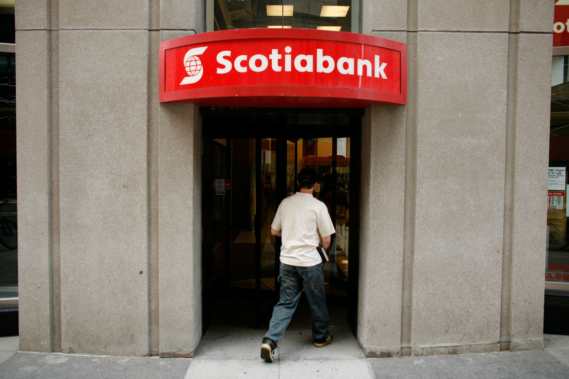 Scotiabank's chief, Brian Porter, suggested this month banks will seek to close branches experiencing falling foot traffic as more customers shift to online banking.