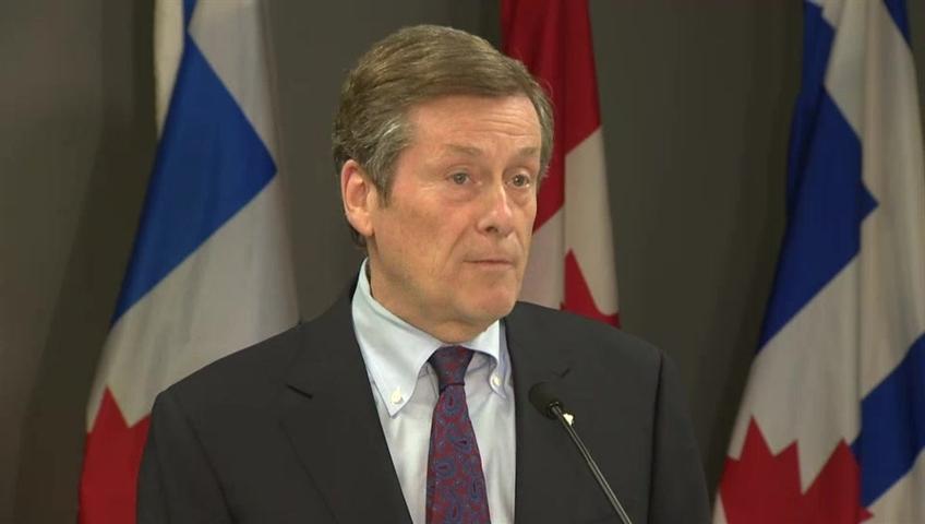 Toronto Mayor John Tory.