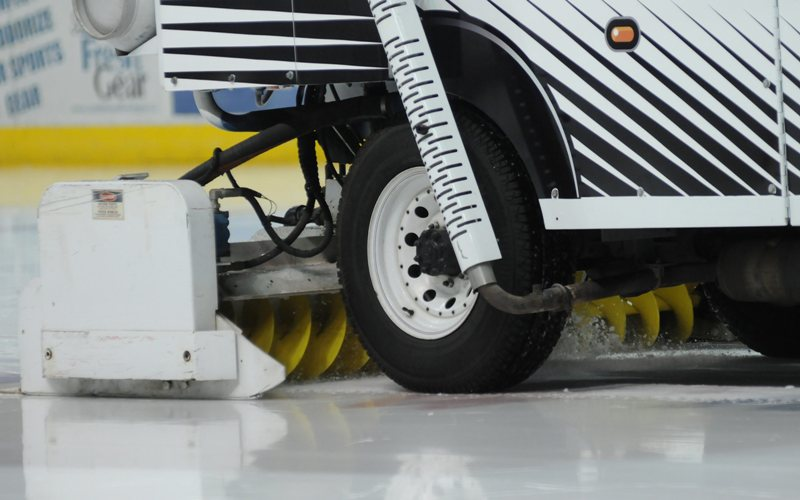 A Fargo man who admitted being drunk while operating a Zamboni during a high school hockey game was convicted Tuesday.