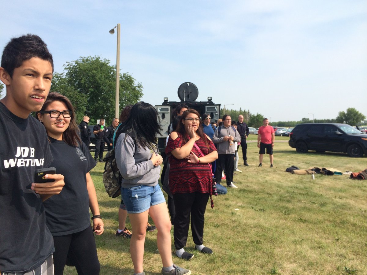 37 First Nations youth take part in the Oskayak Police Academy with Edmonton police.
