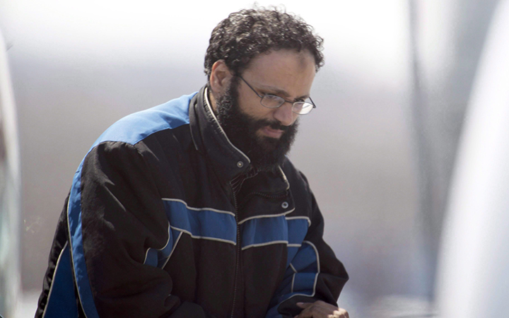 Chiheb Esseghaier, one of two suspects accused of plotting with al-Qaida in Iran to derail a train in Canada, arriving at Buttonville Airport just north of Toronto on April 23, 2013. A Toronto judge was supposed to rule today on a Crown request for an assessment to determine whether a man convicted of plotting to derail a passenger train is fit to be sentenced.