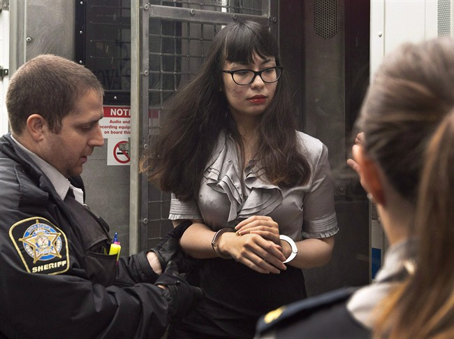 Lindsay Kantha Souvannarath arrives at provincial court for a preliminary hearing in Halifax on Wednesday, July 8, 2015.