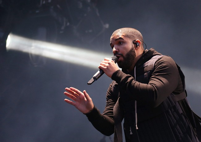 Drake performs on the main stage at Wireless festival in Finsbury Park, London, Friday, July 3, 2015.