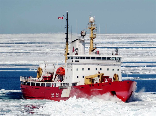 The CCGS Pierre Radisson is one of the two ice breakers that helped free the Akedemik Ioffe which ran aground in northern Canada on Friday.