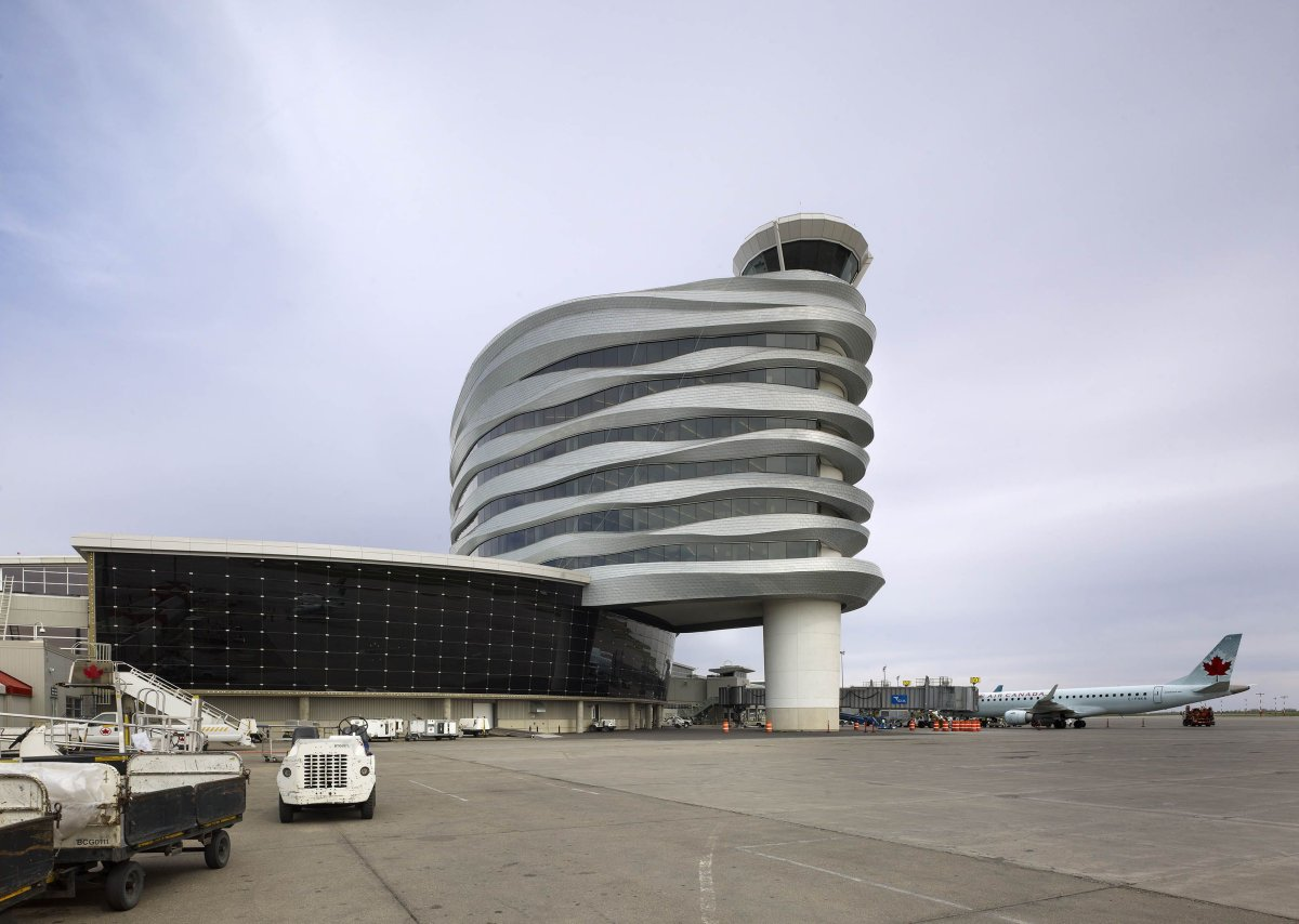 Edmonton International Airport's eight-storey Central Tower.